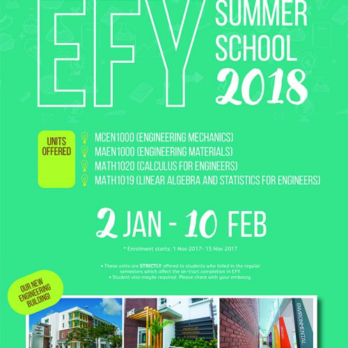 Engineering First Year Curtin University Malaysia Summer School 2018