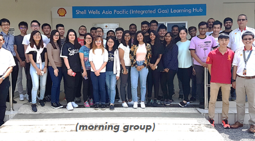 Curtin engineering students learn about well completion tools and intervention operations at Shell's Wells Asia Pacific (Integrated Gas) Learning Facility